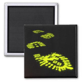 Slimy Bootprints Magnet