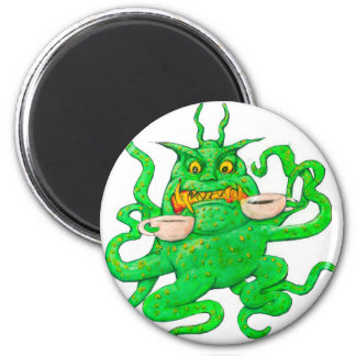 Slimy Green Coffee Monster Magnet