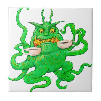 Slimy Green Coffee Monster Tile