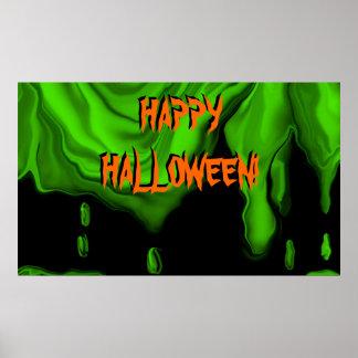 Slimy Halloween poster