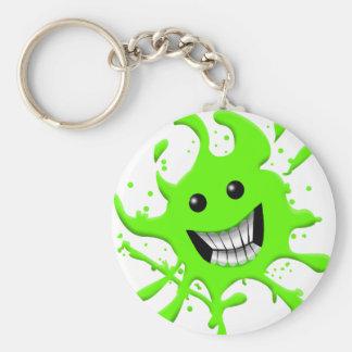 Slimy Basic Round Button Keychain