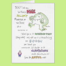 SLIMY MONSTER birthday Boynton Card