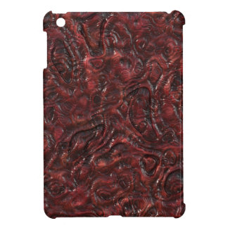 Slimy Red Organic Weird Alien Flesh Texture iPad Mini Covers