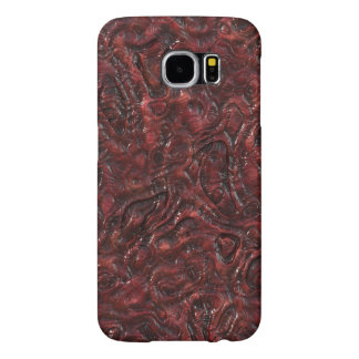 Slimy Red Organic Weird Alien Flesh Texture Samsung Galaxy S6 Case