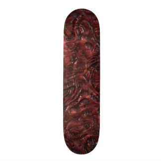 Slimy Red Organic Weird Alien Flesh Texture Skateboard