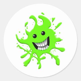 Slimy Classic Round Sticker