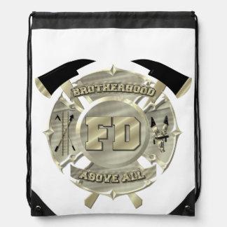 Sling back firefighter bag.... drawstring bag