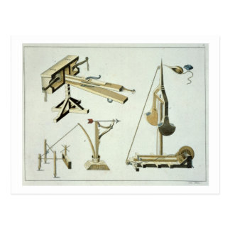 Sling weapons, plate from 'A History of the Develo Postcard