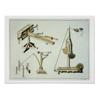 Sling weapons, plate from 'A History of the Develo Poster