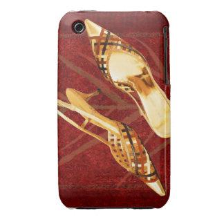 Slingback de oro del enrejado en la alfombra roja funda para iPhone 3
