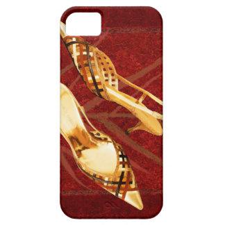 Slingback de oro del enrejado en la alfombra roja funda para iPhone SE/5/5s