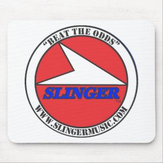 """SLINGER 4"""" Round BTO Logo Red, White, Black, Blue Mouse Pad"""