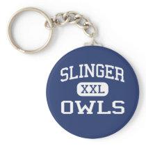 Slinger - Owls - High School - Slinger Wisconsin Keychain
