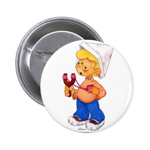 Slingshot Boy 2 Inch Round Button