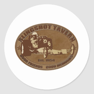 slingshot dragster tavern classic round sticker