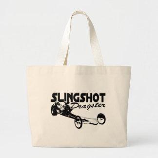 slingshot dragster vintage drag racing tote bags