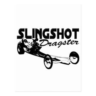 slingshot dragster vintage drag racing postcard