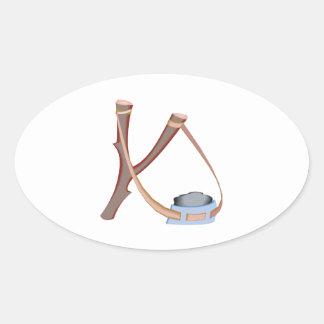 Slingshot Oval Sticker