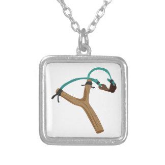 Slingshot Silver Plated Necklace