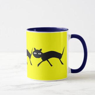Slinky Black Cat Mug