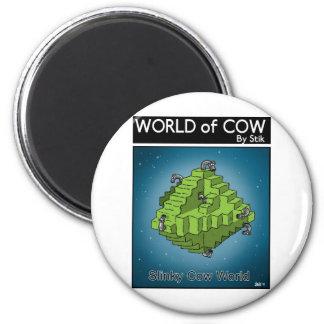 Slinky Cow World Magnet