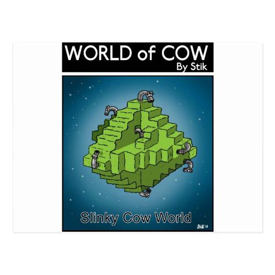 Slinky Cow World Postcard
