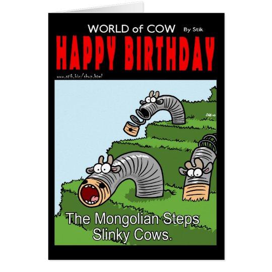 Slinky Cows Card