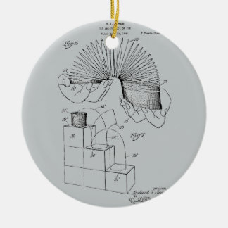 Slinky Patent 1947 Ceramic Ornament