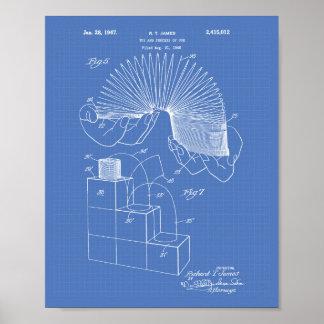 Slinky Toy 1946 Patent Art - Blueprint Poster
