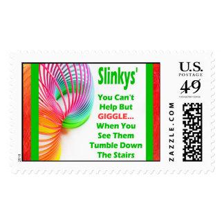 Slinky Tumble Postage Stamps