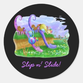 Slip n' Slide! Classic Round Sticker