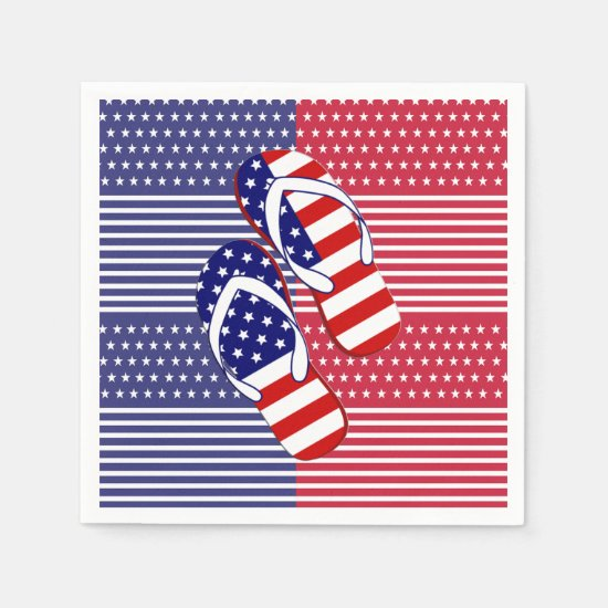 Slip On Over July 4th Party Paper Napkins