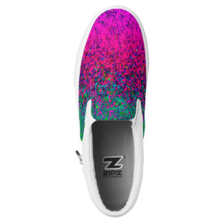 Slip On Shoes Glitter Dust Printed Shoes