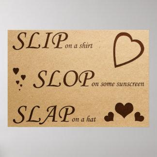 Slip Slop Slap Light Poster: Replace LiveLaughLove Poster