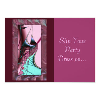Slip Your Party Dress on... Card