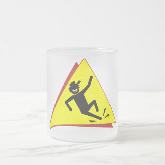 SLIP'N DUDE 9 FROSTED GLASS COFFEE MUG