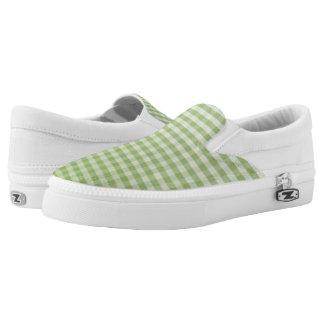 Slipons verdes de la guinga Z de Ombre del Zapatillas