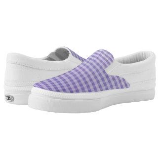 Slipons violetas de la guinga Z de Ombre del Zapatillas