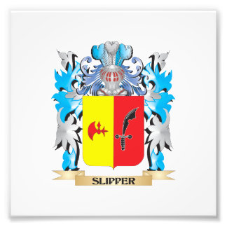 Slipper Coat of Arms - Family Crest Photo Print