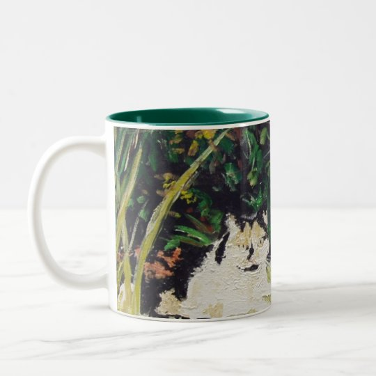 Slippers Painting Two-Tone Coffee Mug