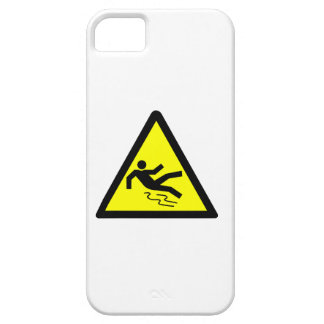 Slippery Surface Warning iPhone 5 Cases