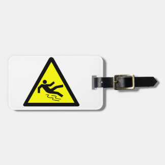 Slippery Surface Warning Luggage Tag