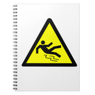 Slippery Surface Warning Notebook