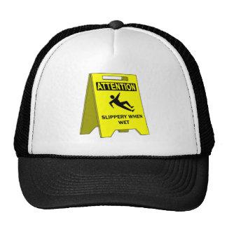SLIPPERY WHEN WET TRUCKER HATS