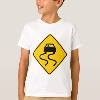 Slippery When Wet Highway Sign T-Shirt