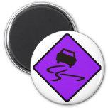 Slippery When Wet Road Traffic sign Australia Car Magnets