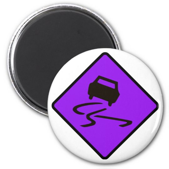 Slippery When Wet Road Traffic sign Australia Car Magnet