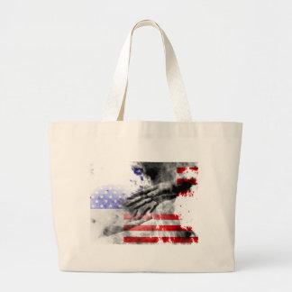 Slipping away canvas bag