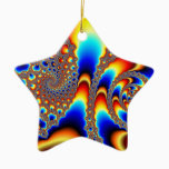 Slipping Through - Fractal Art Ceramic Ornament