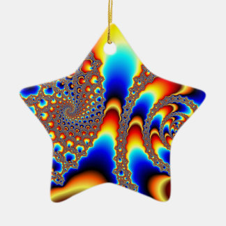 Slipping Through - Fractal Art Ceramic Ornament